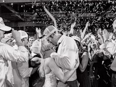Best Party Wedding | The 15 Best Real Weddings of 2015 | See more in The Knot Winter Issue (on stands now!) | https://www.theknot.com/content/2015-best-real-weddings