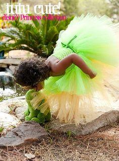 That's MY baby!  Tiana Disney Princess and the Frog Tutu by tutucutecustomtutus, $55.00