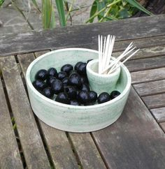 Olive  or cherry   serving dish handthrown by CaractacusPots, £14.99