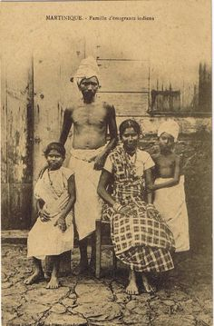 Family of Indian emigrants or Creole peoples are ethnic groups which originated from creolisation, linguistic, cultural and racial mixing between colonial-era emigrants from Europe with non-European peoples, climates and cuisines. Kitsch, Les Seychelles, British Guiana, Indian Family, Caribbean Culture, Art Of Manliness, Indian Art Paintings, African Diaspora, Historical Images