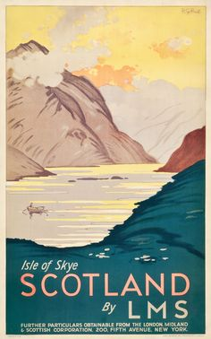 Scotland Isle of Skye Travel Poster (LMS, 1933)