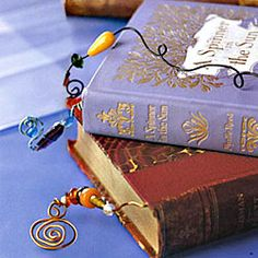wire and bead bookmarks...how to...