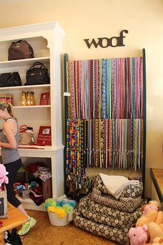 Leash display | Where to Shop in Napa Valley