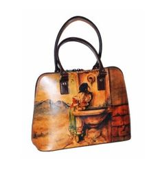 Ručne maľovaná kabelka 8573 inšpirovaná motívom Leon Bonnat