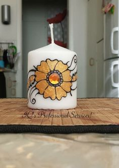 personalized 8 cm candle Follow me on facebook: www.facebook.com/IQprofessionalhenna Subscribe to my youtube channel! http://www.youtube.com/user/IQProfServices