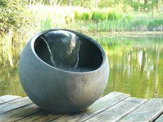 waterornament Bol Water op vlonder, diy, waterval, verplaatsbaar, design, handgemaakt