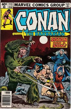 Conan the Barbarian # 113 (August, 1980). Cover by John Buscema.