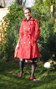 Sewaholic Robson Coat: in knalligem Rot