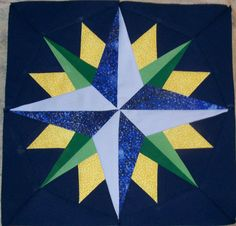 Mariner's Compass Quilt Blocks by Becky Crafts from the quiltingboard.com