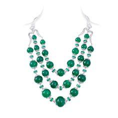 Nirav Modi emerald Maharani necklace