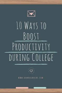 It takes Time, Dedication and Motivation to Boost Productivity in college; which helps you succeed. Discover new methods to find what works best for you and get on the path of achieving success in college!