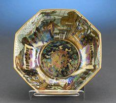 Antique Porcelain, Wedgwood, Fairyland Lustre Octagonal Bowl ~ M.S. Rau Antiques