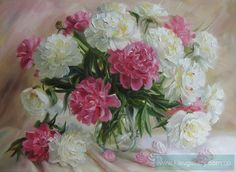 Picture «Tenderness of peonies», Painter Tomesco-Mazmanian Julia