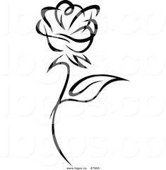 royalty-free-clip-art-vector-of-a-black-and-white-rose-logo-by-vector-tradition-sm-7993.jpg (1024×1044)