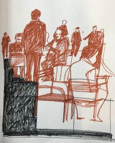 Mac Ball; JFK, 9x14, conte crayon, March 10, 2017