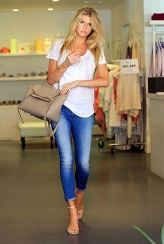Charlotte McKinney Shops in Beverly Hills