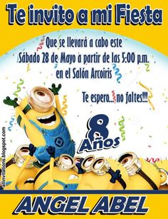 Remember to block this date Minion Birthday, Ideas Para, Baby Shower, Invitations, Ariel, Selfies, David, Cute Minions, Party