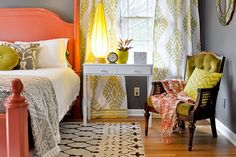 When I showed you the duvet cover curtains I made for our master bedroom, it was looking like this - But I hinted that the room was changing quite a bit, and it has! I loved the chartreuse that was...