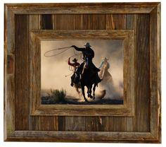 Durango Rustic Barnwood Picture Frame made from 100% reclaimed barnwood.