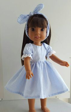 A personal favorite from my Etsy shop https://www.etsy.com/listing/476581836/14-and-145-inch-doll-clothing-dress