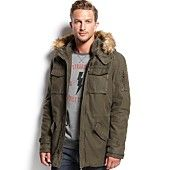 Levi's Faux Fur-Trim Hooded Anorak