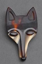LEA STEIN FOX HEAD SCARF ADORNMENT
