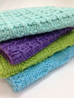 Free Pattern #8: Baby Face Spa Cloths