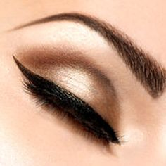 Close up eye makeup and eyebrows