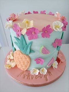 Hawaiian Birthday Cakes, Cake Designs For Girl