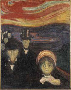 Edvard Munch - Anxiety, 1894, oil on canvas