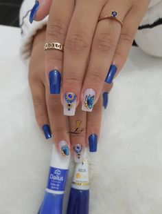 ideas for nails blue green toe Mani Pedi, Manicure And Pedicure, Gorgeous Nails, Pretty Nails, Blue Nails, My Nails, Diva Nails, Diy Nail Designs, Summer Nails