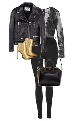 """""""#2189"""" by nereagt ❤ liked on Polyvore featuring I.D. SARRIERI, Topshop, Acne Studios, Yves Saint Laurent and Givenchy"""