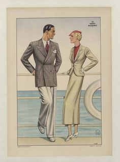 Menswear 1930s- Italian, Plate 045 :: Costume Institute Fashion Plates