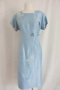 Vintage Silk Dress / 1950's Wiggle Dress / by SalvatoCollection,