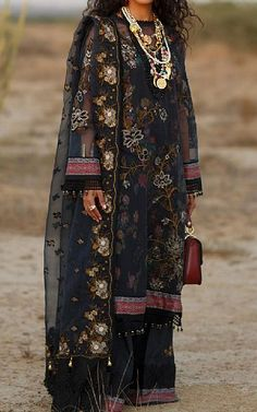 Black Organza Suit   Buy Rang Rasiya Pakistani Dresses and Clothing online in USA, UK Pakistani Lawn Suits, Pakistani Dresses, Fashion Pants, Fashion Dresses, Rang Rasiya, Suits Online Shopping, Add Sleeves, Buy Rings, Lawn Fabric