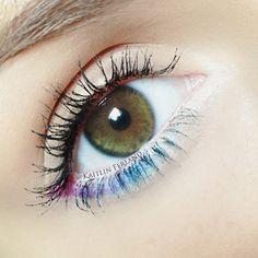 small bits of color Mascara, Eyeliner, Beauty Makeup, Eye Makeup, Eyes Lips Face, Make Up, Photo And Video, Pretty, Hair