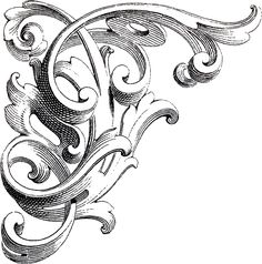Vintage Corner Scrolls Design via @Karen Jacot Jacot - The Graphics Fairy