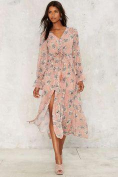 Matinee Ruffle Maxi Dress