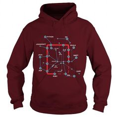 Cool Code Language Map For PROGRAMMER CODER DEVELOPER SOFTWARE ENGINEER T-Shirts