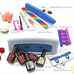 http://www.ebay.com/itm/Lulaa-36W-UV-lamp-7-of-Resurrection-nail-tools-and-portable-package-five-10-ml-/222355716624