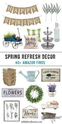Affordable Spring Decor Finds - little blonde mom, The Effective Pictures We Offer You About country farmhouse decor apartment A quality picture can tell you man Trendy Home Decor, Affordable Home Decor, Diy Home Decor, Diy Spring, Spring Home Decor, Country Farmhouse Decor, Farmhouse Style, Modern Farmhouse, Kitchen Decor Themes