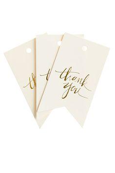letterpress thank you tags