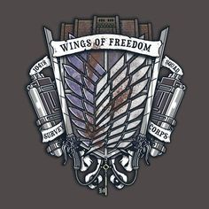 Survey Corps Crest T-Shirt $12.99 Attack on Titan tee at Pop Up Tee!