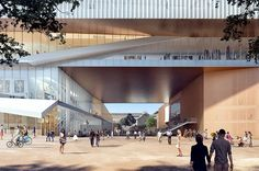 HASSELL and OMA have joined forces to design the New Museum for Western Australia. The contract to launch the anticipated project was awarded to the international contractor Brookfield Multiplex. Oma Architecture, Architecture Concept Drawings, Architecture Visualization, Contemporary Architecture, Australia Occidental, City Of Adelaide, Rem Koolhaas, New Museum, Design Museum