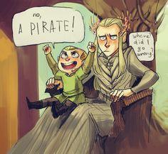 Tales of Mirkwood - A pirate ! from http://thranduilings.tumblr.com/post/117612176424