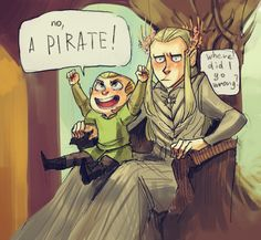 Tales of Mirkwood - A pirate ! from http://thranduilings.tumblr.com/post/117612176424