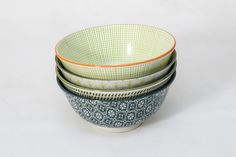 This Green Bowl Set Comes In 4 Different Designs For The Less Traditional. Brighten Up Your Dinner Table. Make Dinner Time Fun Time Green Bowl, Dinner Table, Bowl Set, Dinnerware, Deserts, Porcelain, Snacks, Traditional, Dining