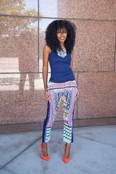 Tank Top + Printed Pants (Style Pantry » My Style)