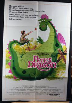 Pete's Dragon 1977 Original Movie Poster by MoviePostersAndMore, $29.99