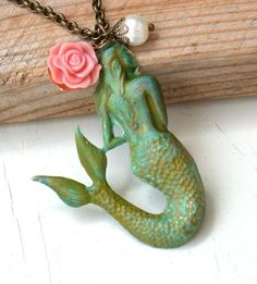 Mermaid Necklace  The Little Mermaid Necklace by roomofyourown,